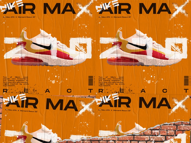Random poster #001 print craft brand art typography airmax handmade sneaker sneakerhead nike color graphicdesign poster