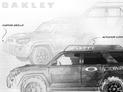 Oakley Toyota 4Runner Concept toyota vehicle 4runner oakley concept rendering
