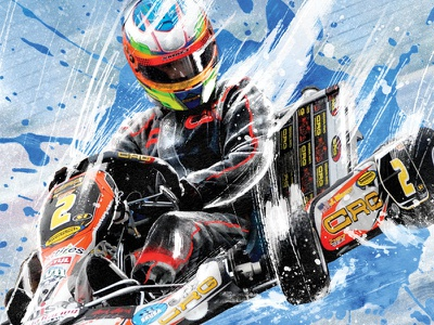 SKUSA SuperNationals XVIII Poster racing karting motorsports