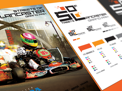 Streets of Lancaster Grand Prix kart racing racing motorsports style guide logo identity branding