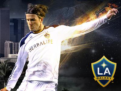 LA Galaxy Diptych diptych soccer football galaxy los angeles