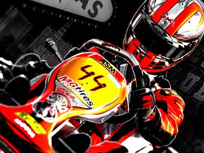 SuperNationals XVI Key Art poster racing karting stylized vegas las vegas