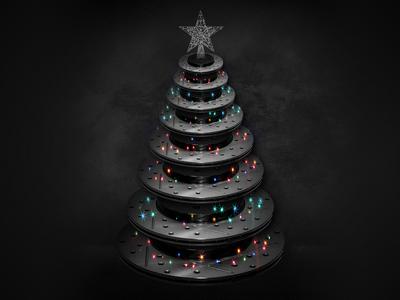 Brake Rotor Christmas Tree brakes rotor racing automotive mechanical christmas tree