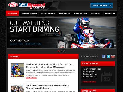 Racing Website Comp 1 racing karting driving formula1 dark