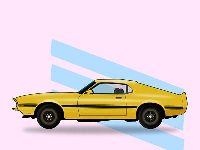 GT350 - Illustration work art vector art car illustraion