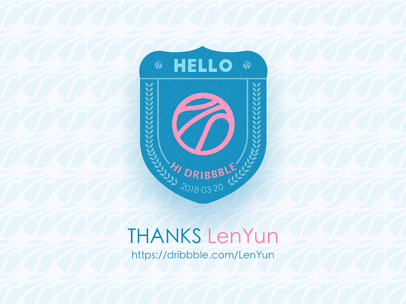 HELLO Dribbble debut first hi hello
