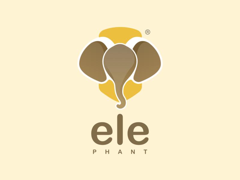 Manual studio- ele sketch visign design elephant brand logo vi