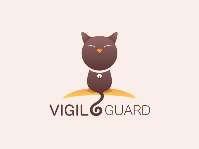 Vigil_Guard-Brand LOGO vigil cat sketch design logo vi