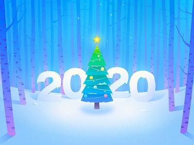 Hi 2020, Find yourself ! new year 2020 sketch illustration