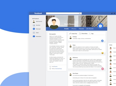 A Facebook UI Redesign
