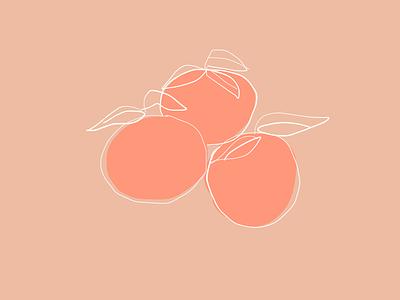 2D Peaches Illustration 2019 peachtones peaches inspo illustration art 2d