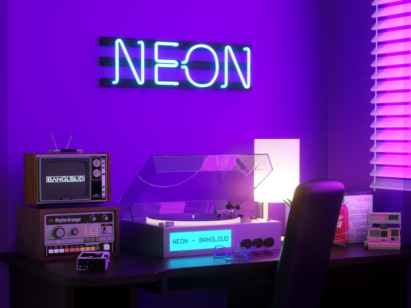 Cover Art - Neon by Bangloud 3d design 3d illustration 3d artist 3d art cinema 4d octane render octanerender octane c4d cinema4d design 3dart 3d