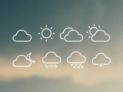 8 FREE Weather Icons weather icons iconography freebie freebies