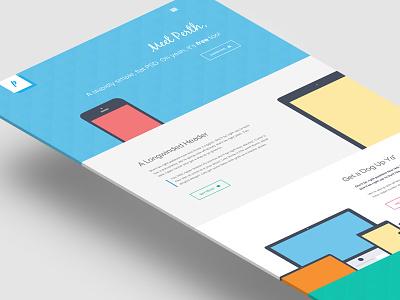 Freebie PSD: Perth - A Free Flat Web Design. freebie psd flat design web design photoshop flat devices