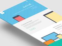 Freebie PSD: Perth - A Free Flat Web Design.