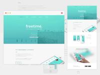 Landing Page - 'Freetime' App Concept