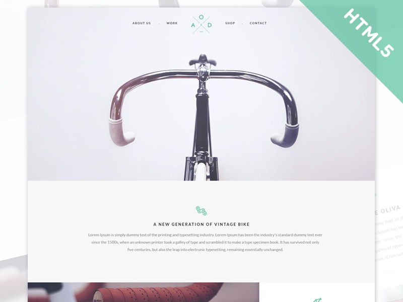 Freebie: Yebo Flat HTML5 CSS3 Template by Peter Finlan - Dribbble