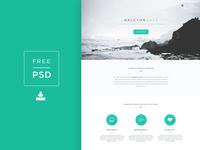 Freebie PSD! Halcyon Days Website PSD