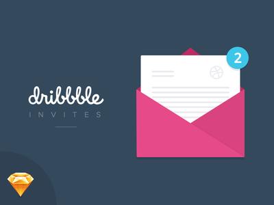 Dribbble Invites x 2 Giveaway! product design design invitation envelope ui design sketch dribbble invite