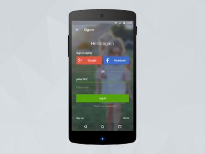 Domain Android log in screen ui design design product product design app mobile log in android domain