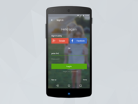 Domain Android log in screen
