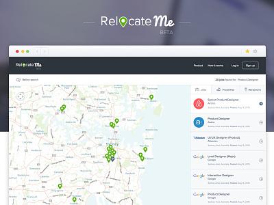 RelocateMe (hack-a-thon project) sketch product design design hackathon innovation day ux design ui design