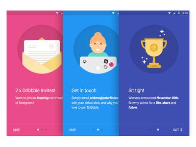 Dribbble Invite illustrations material design android onboarding illustrations invite dribbble
