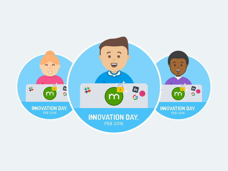 Innovation Day 2016 (Hack-a-thon) @ Domain people character visual design product design hackathon innovation illustration