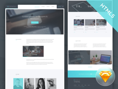 Freebie! Synthetica HTML5/CSS3 Landing Page Template ui design ux design sketch freebie landing page free design free html5 template freebie