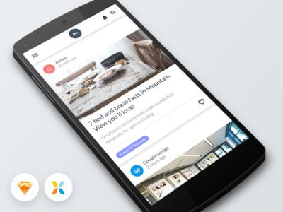 Freebie! Mobile App Sketch UI + Pixate Prototype