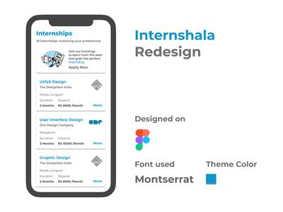Internshala Redesign