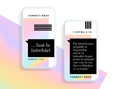 Connect - BBSO - Questions - Social Media Visuals clean simple mobile videos cover verses gradient colors black  white black minimal visualstyle quotes socialmedia social media visuals