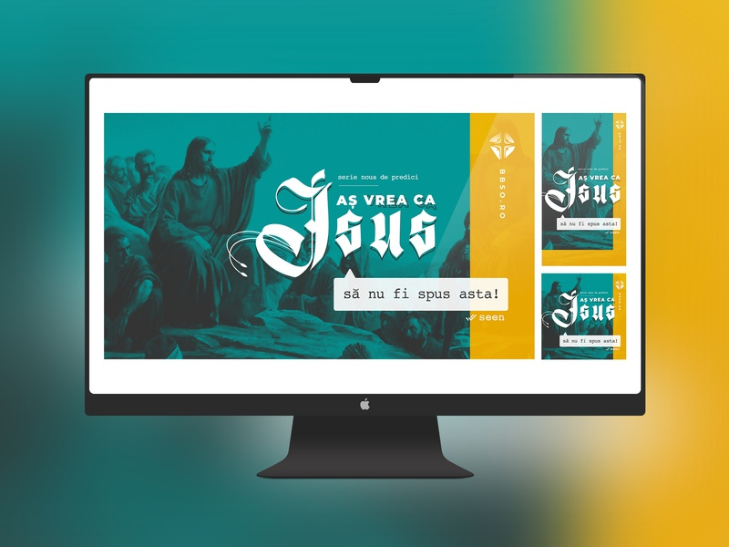 Jesus Said sermons ads by Daniel Bondas on Dribbble