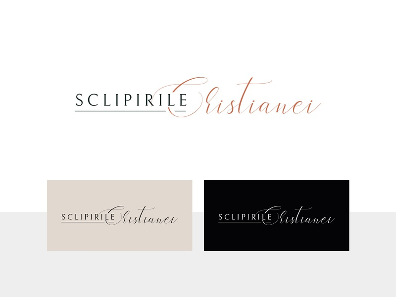 Sclipirile Cristianei Logo blogger presets elegant cleandesign simple minimalist classic line sanserif sans-serif script design logos logodesign blog design blog post blogging blog logo bloggers blogger