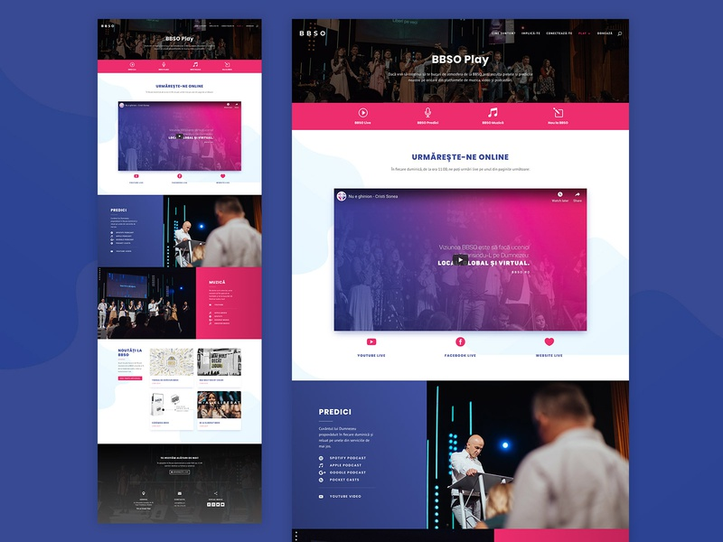 BBSO Play Page  Website Design minimalist simple design blog simple clean interface simple photoshop pink red blue facebook layout design web design page church oradea bbso play website