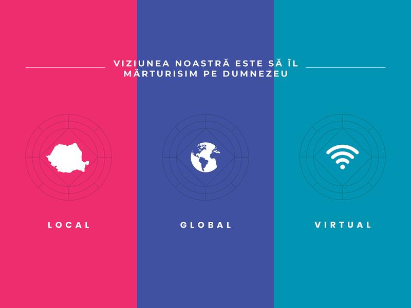 BBSO Church Vision Statement Design logo flat typography gradient black colors design minimalist clean simple vision