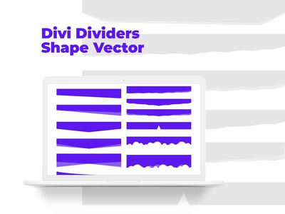 Sections Dividers Shape Vector for Divi WP Theme