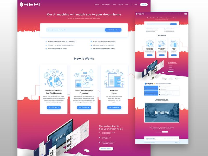 Real Estate Artificial Intelligence Web UI Design icons minimalism minimal ux gradient user interface design user experience user interface userinterface user uxdesign ux  ui uxui ui design uidesign ui  ux uiux ui
