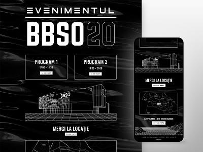 BBSO 2020 Event Visuals lines minimalist black designs web design design brand design identitydesign share social media socialmedia website identity branding and identity branding userinterface user uiux ui web