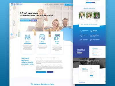 Dental and orthodontics UX/Ui Web Design