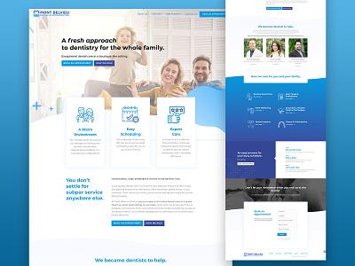 Dental and orthodontics UX/Ui Web Design copy steps uidesign ui design sturcture wireframes text icons gradient waves blue website design webdesign web design website ux design uiux ui web