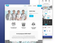 Shift+Vieti - Ui Web Design typography gradient colors minimalist clean simple accessible accessibility blue ui  ux uiux uidesign ui design design ui