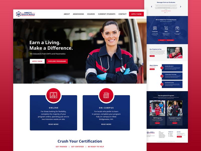 National Medical Education and Training Center Ui Web Design gradient simple minimalist websites web designer website wireframe structure clean blue design ui  ux uiux uidesign ui design ui
