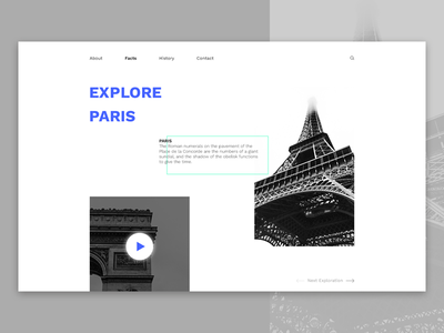 Explore World, Paris Header