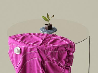 Tea Time tea time cloth minimal redshift plant 3d cinema4d