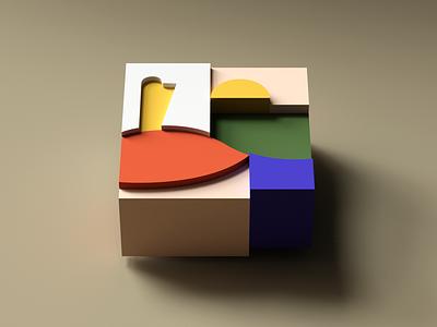 Blocks minimal blocks colors c4d cinema4d 3d