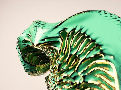 Sculpture 01 3d swirl colors curves neural sculpture redshift cinema4d houdini