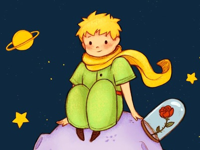 The Little Prince space planet stars little prince the little prince el principito ilustracion illustration