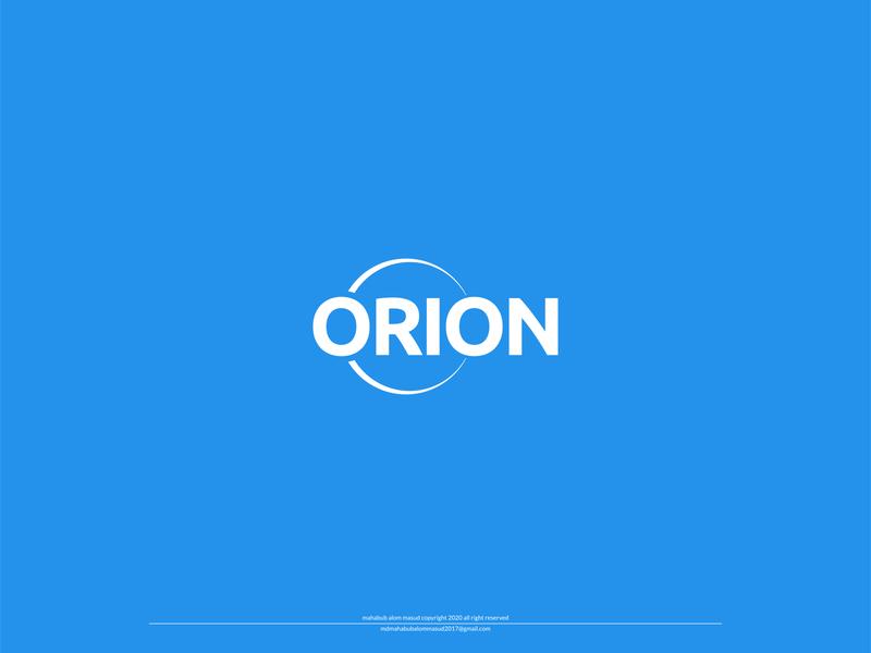 Orion logo concept - 1 custom logo unique logo minimalist logo minimal logo logo design online service logo logo concept one orion