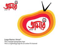 """Amar Tv""   Online Television Logo"